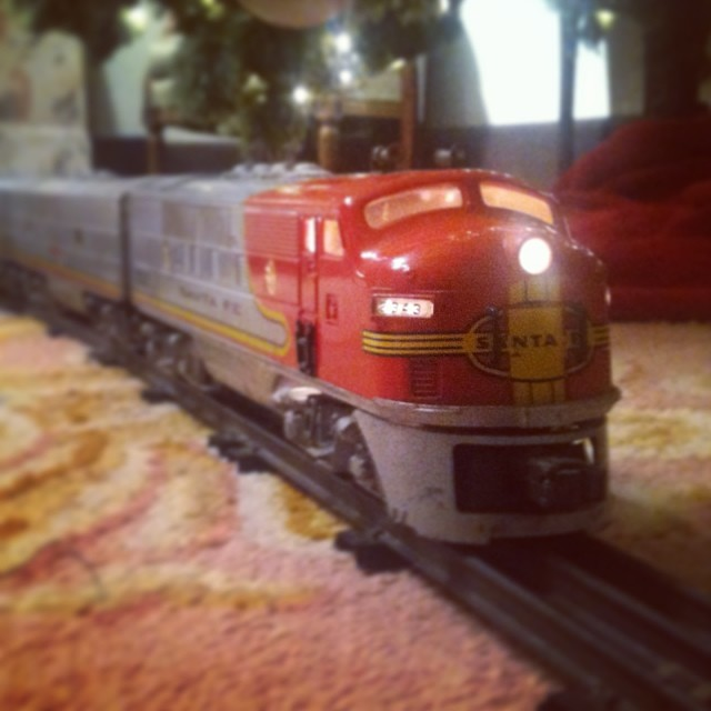 Dad's '53 Lionel Super Chief still running strong 60 years later. @tylersurfboards this should explain a few things...