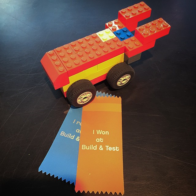 Build & Test is probably the most addictive place at Legoland... José Luis's winning design!
