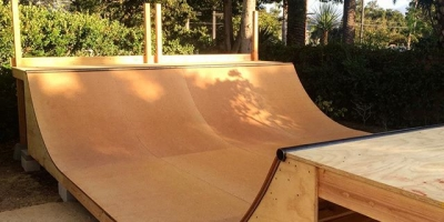 Fully skateable at last! 3.5' x 16' #miniramp finished with #skatelite