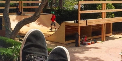 Kicking back watching your kids skate the ramp you spent days in the hot sun working your butt off to build? Not gonna lie, feels good man.