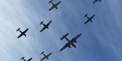 Veterans Day flyovers in Santa Barbara. Get out those aircraft recognition guides!