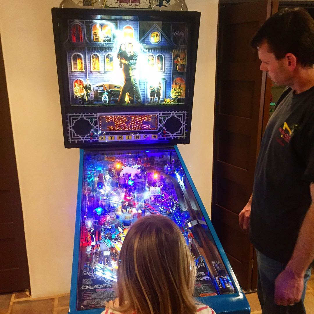 Helped some friends move in their new Addams Family pinball game... so much fun!