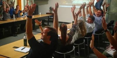 #Zeldathon on the big screen during the @directrelief staff meeting!