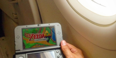 Time for a solo #Zeldathon at 35,000 feet