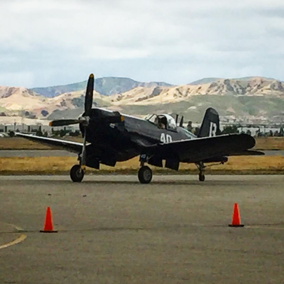 """""""Baa Baa Blacksheep"""" F4U Corsair at the Planes of Fame airshow today. Great time!"""