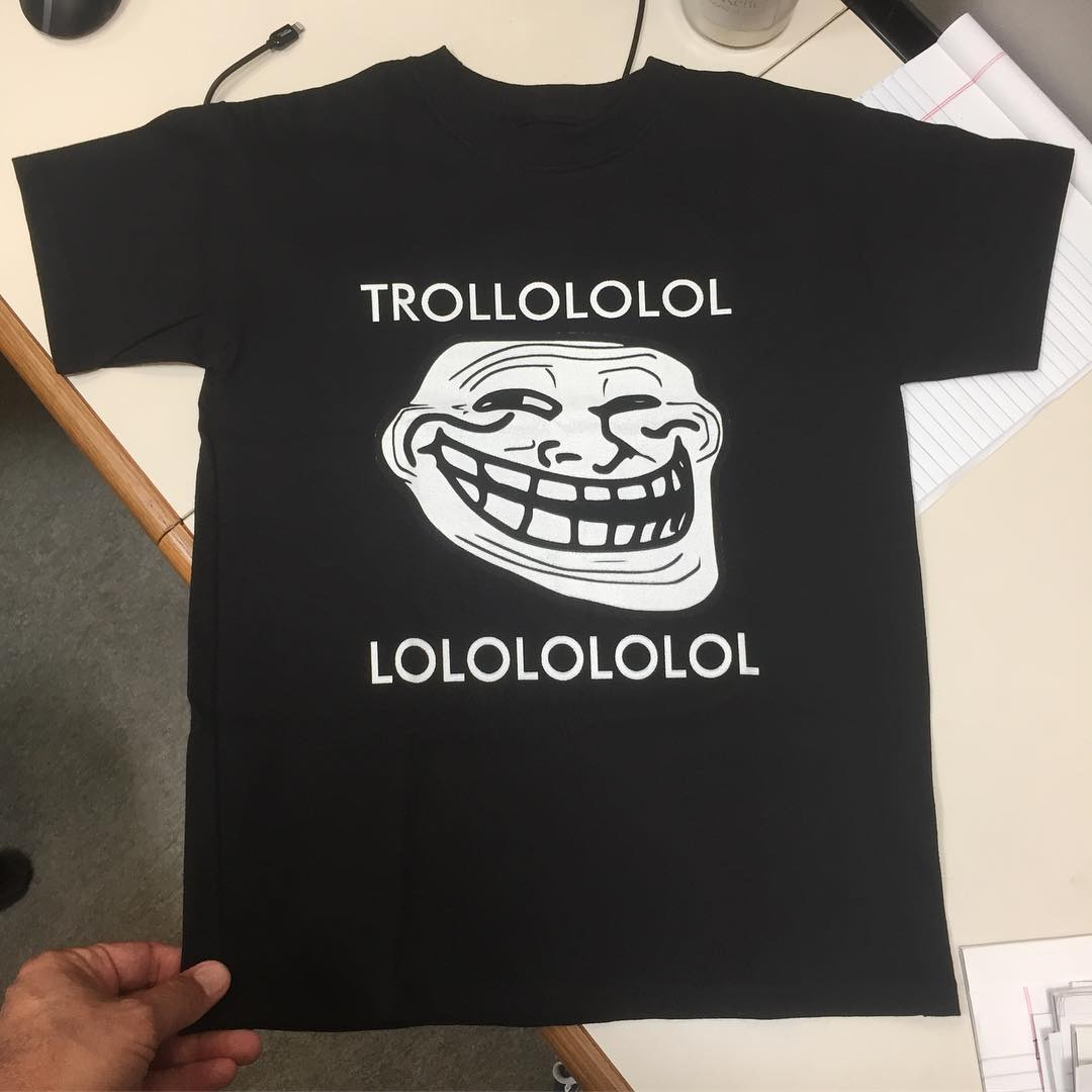 """My sweet 10yr old asked if he could design a shirt. """"Sure, son, what did you have in mind?"""" Chip off the old block I suppose."""