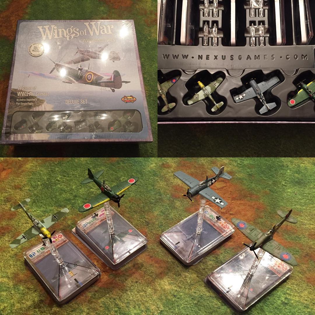 So hyped to find a NIB #wingsofwar Deluxe Set. These are very rare miniatures that we're stoked to add to our #wingsofglory collection.
